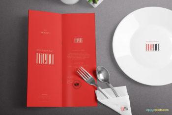Restaurant Menu PSD Mockup – Sober & Presentable