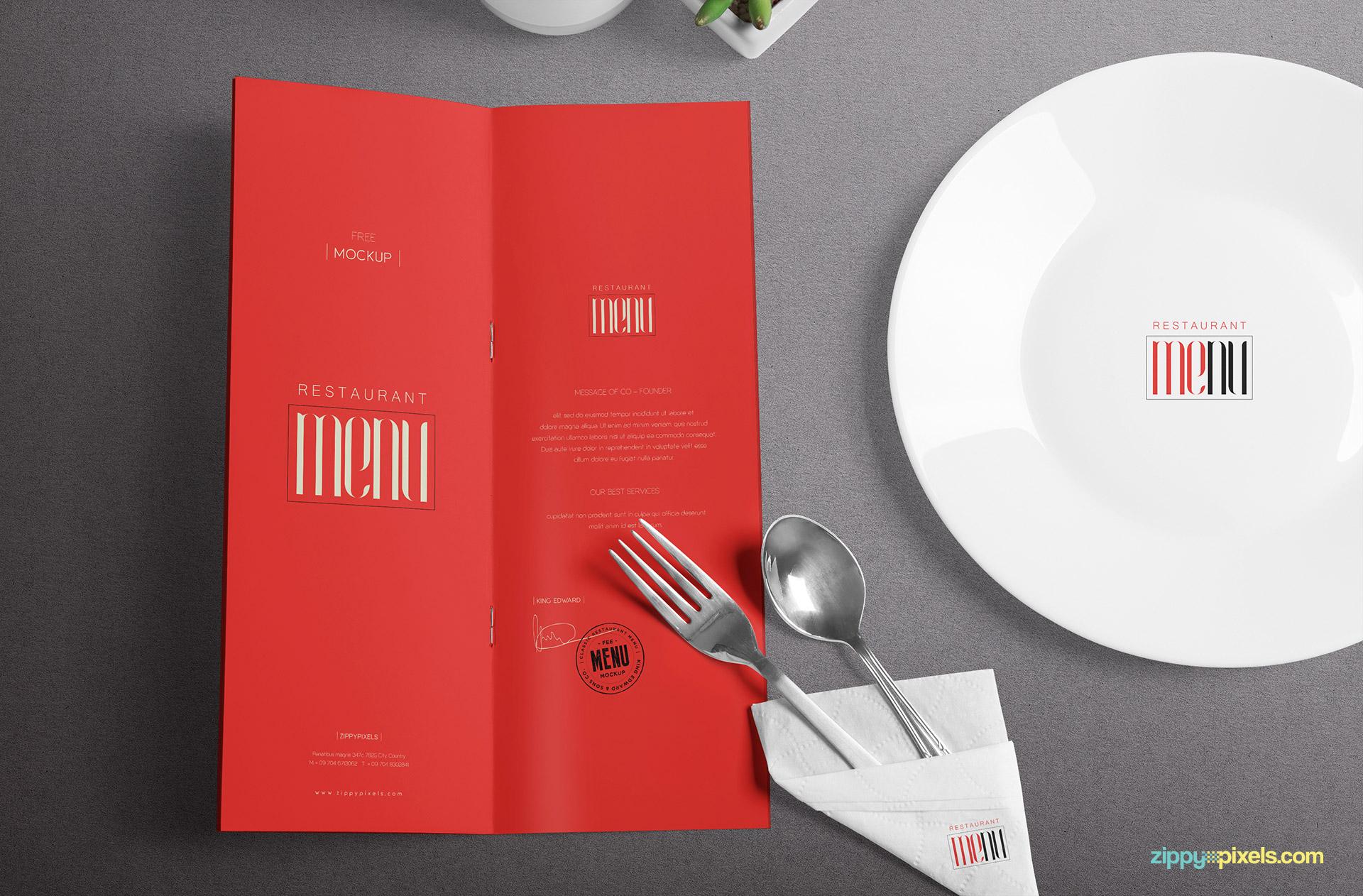 free restaurant menu psd mockup designhooks