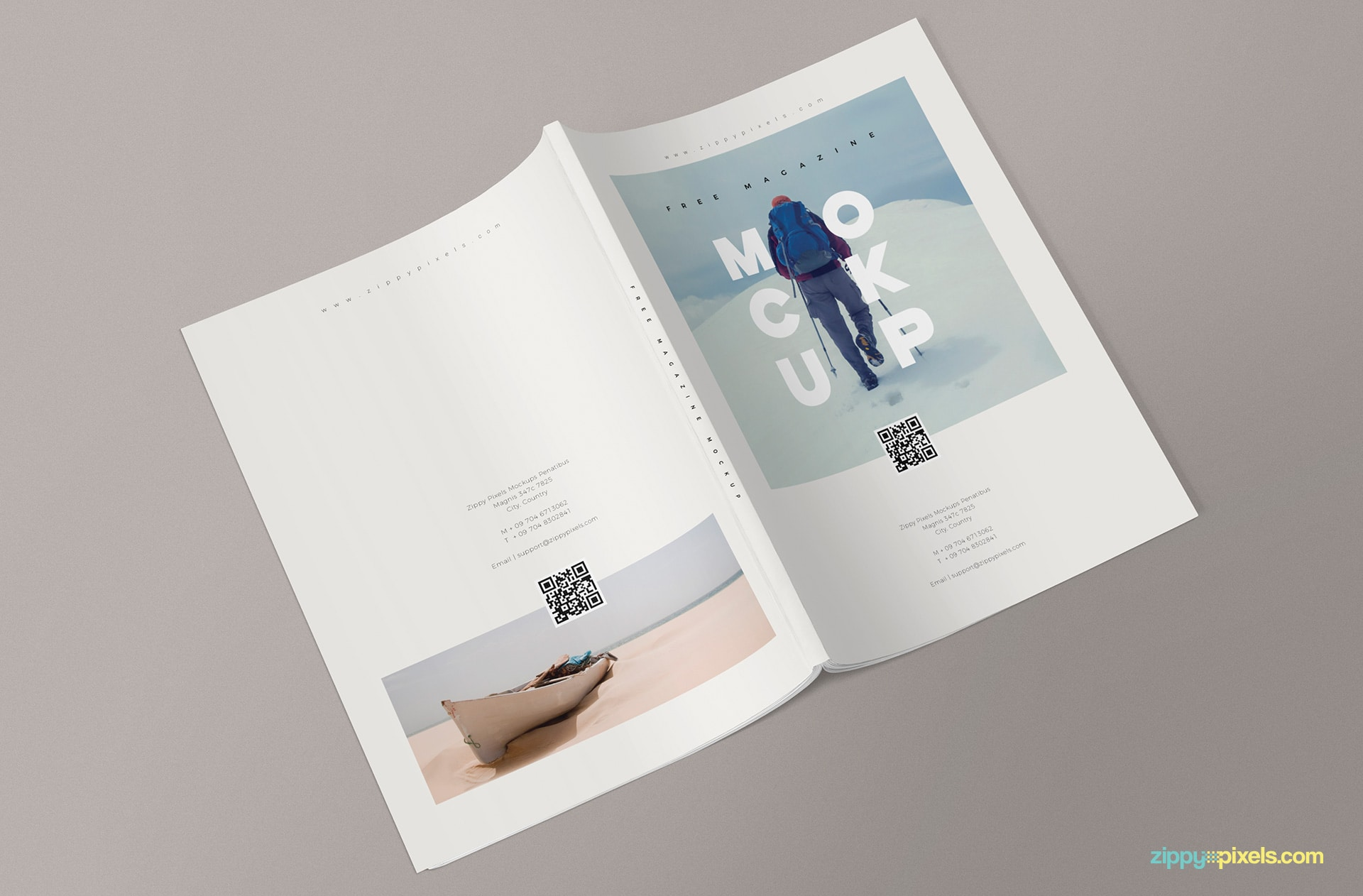 Creative PSD Magazine Mockup to Download for Free- DesignHooks