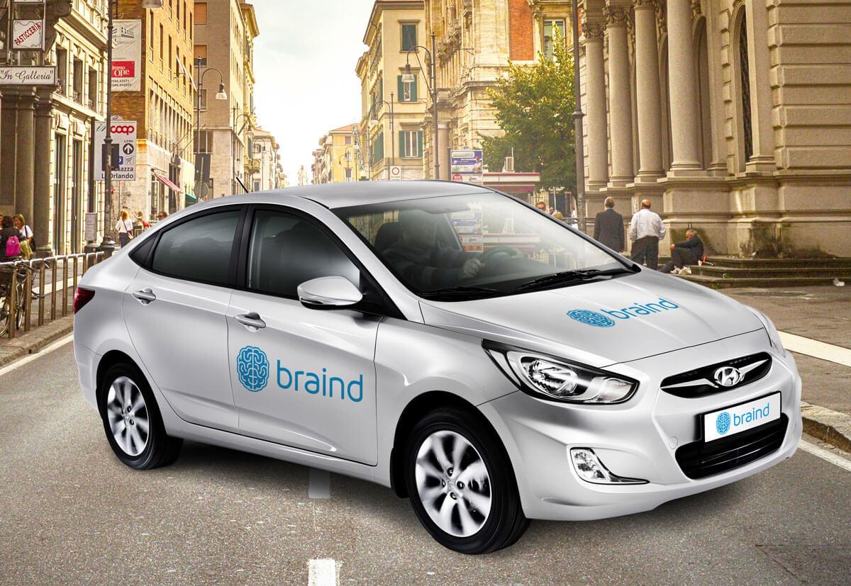 Layered Hyundai Car
