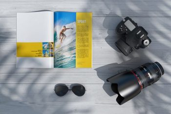 Sunny Style Magazine Mockup Bundle Freebie