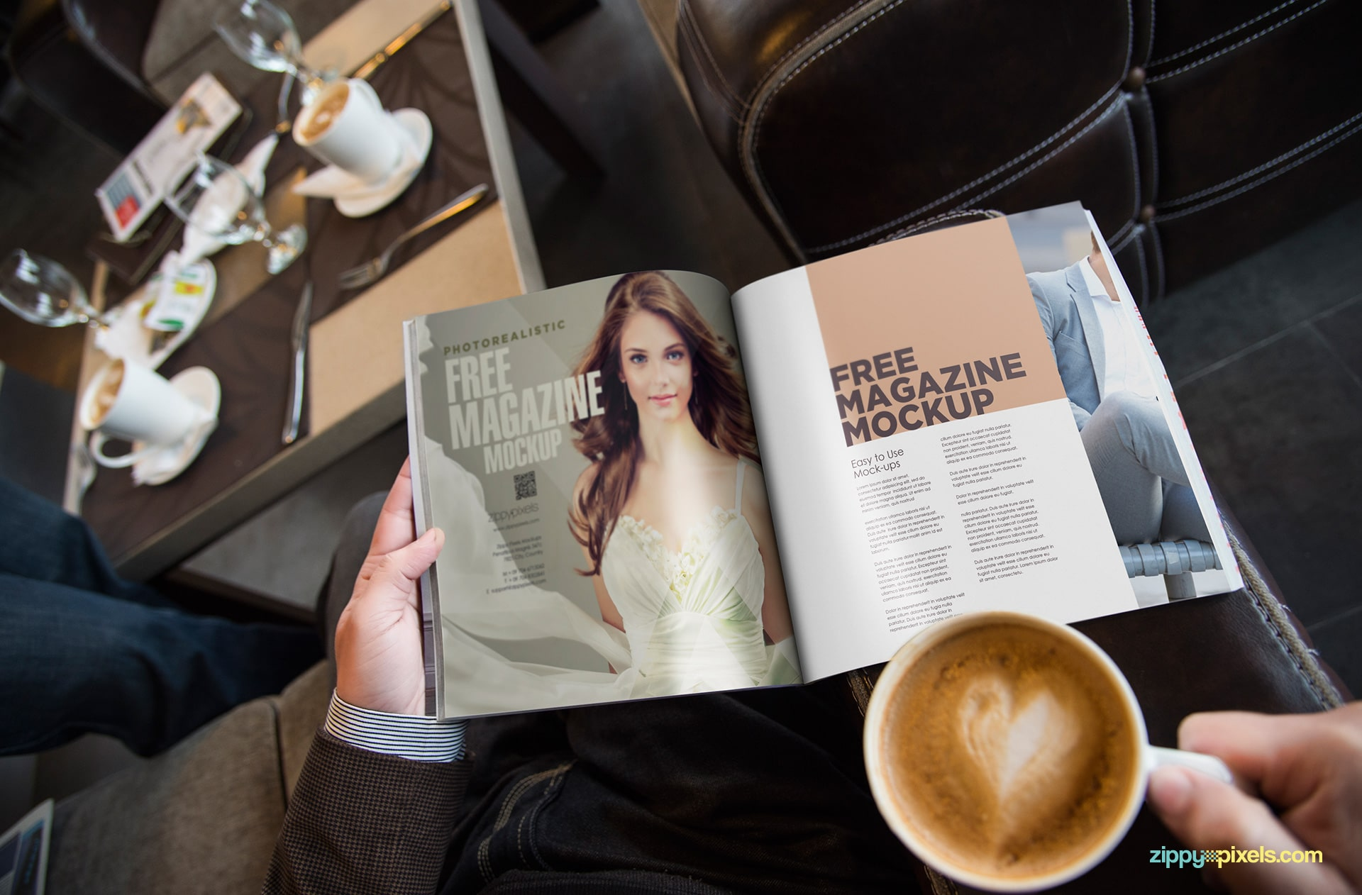 Magazine Ad PSD Mockup Free Download Here
