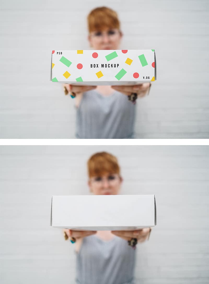 Free PSD Box Mockup for Presenting Packaging Design