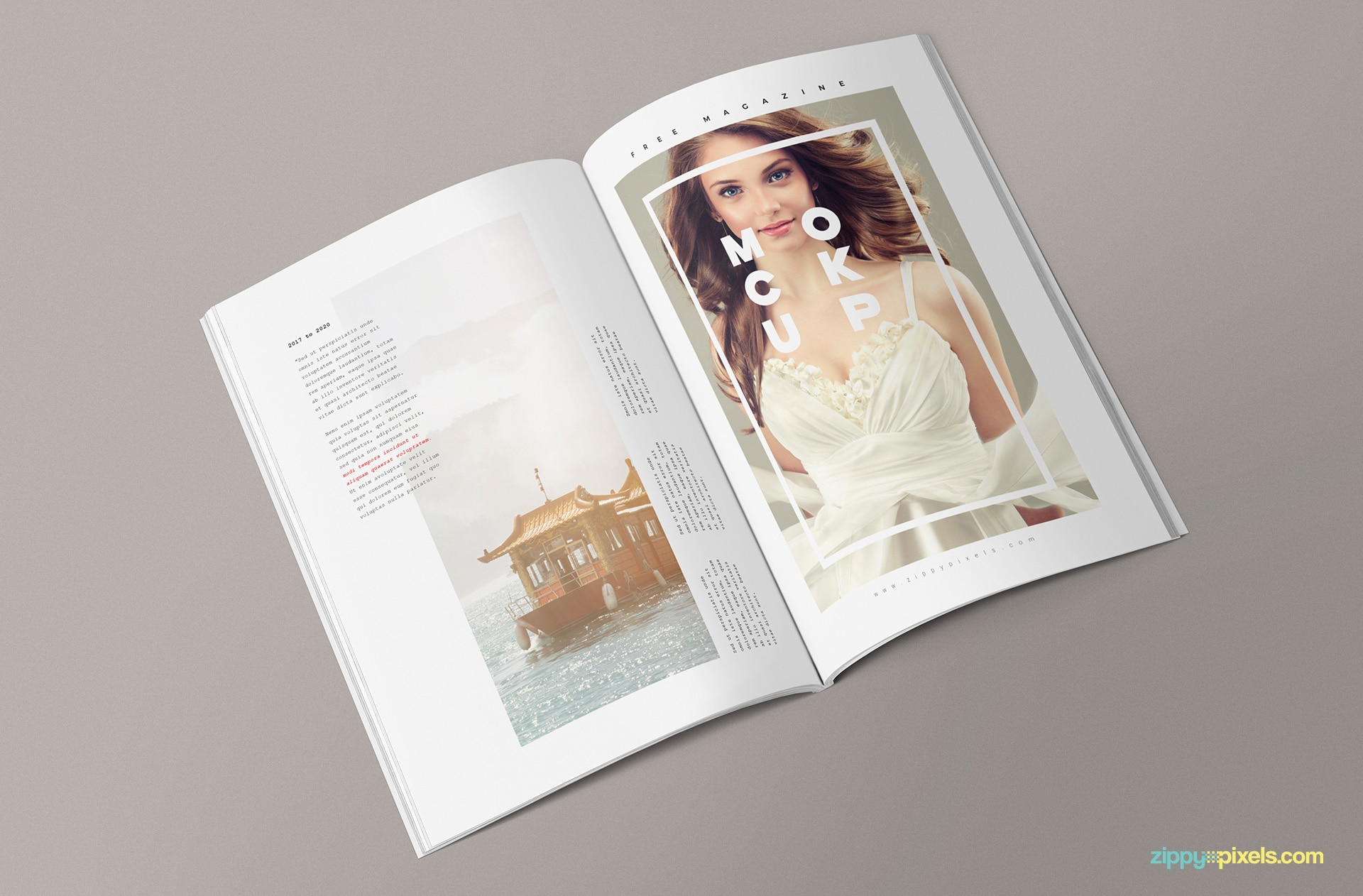 creative psd magazine mockup to download for free