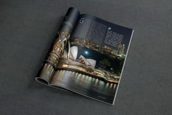 Open Magazine Mockup Freebie in PSD