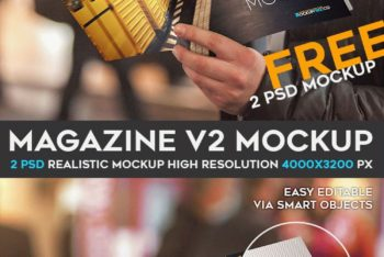 Magazine PSD Mockup with Professional Artwork Touch