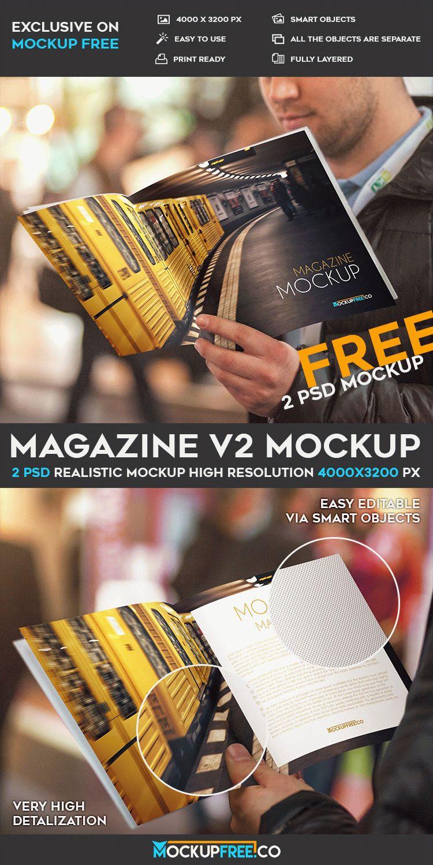 Magazine PSD Mockup Design