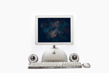 Customizable Retro iMac G4 Mockup Freebie
