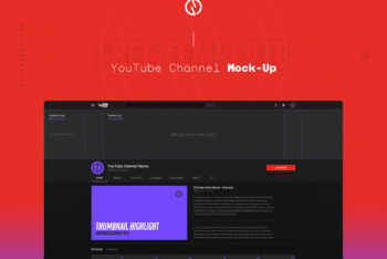 Free Customizable Youtube Channel Art Mockup