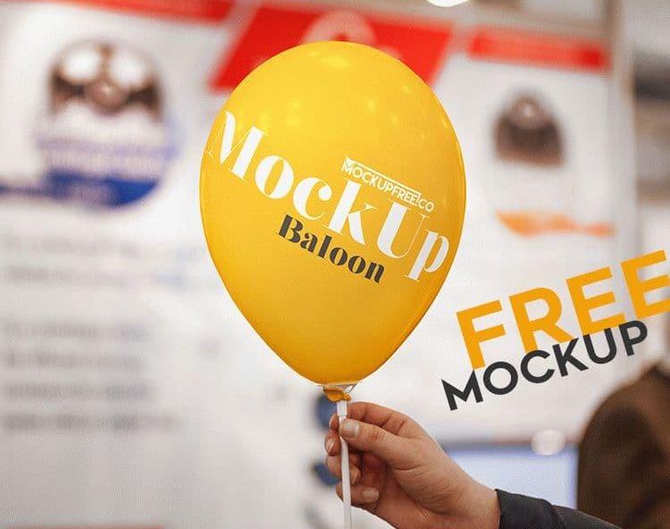 Free Balloon PSD Mockup Design
