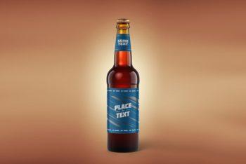 Classic Beer Bottle Mockup Freebie