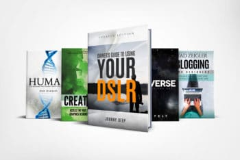 Hardcover Book Series Mockup