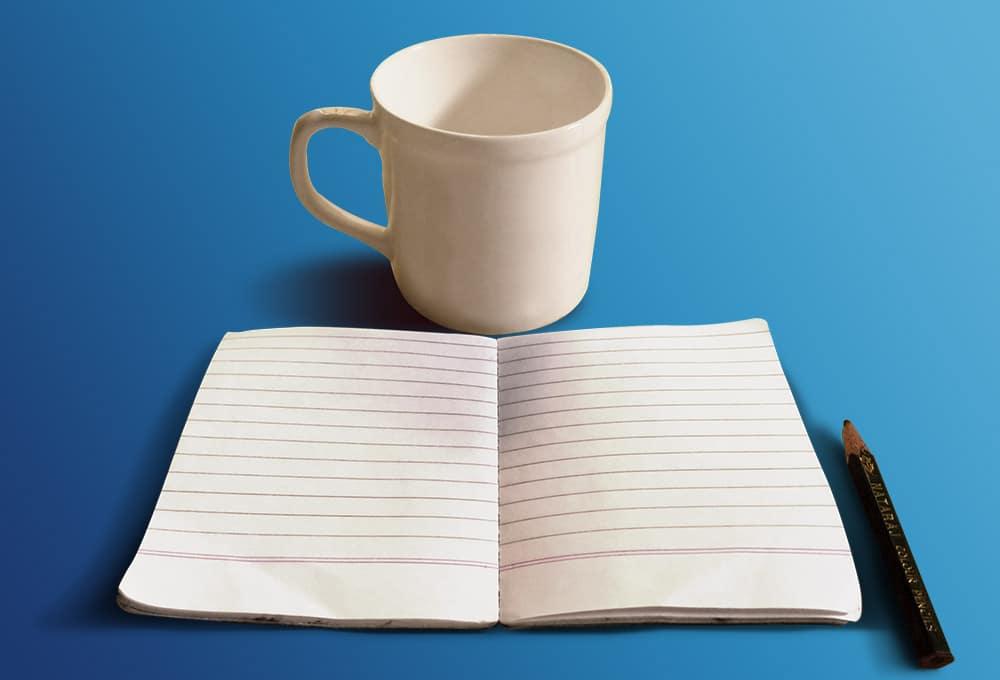 Coffee Cup Plus Sketchbook