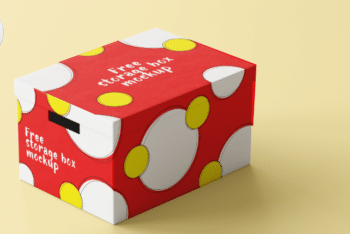 Attractive Storage Box PSD Mockup
