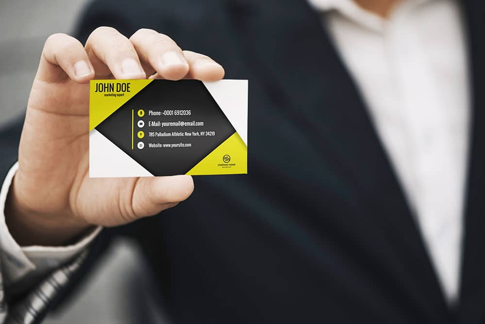 Free Download Business Card Mockup - Designhooks