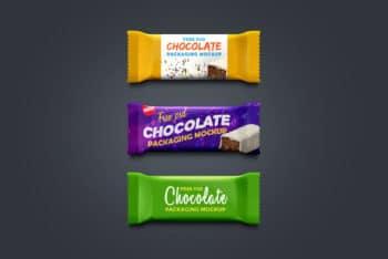 Free Chocolate Plus Granola Bar Packaging Mockups