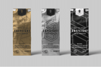 Free Coffee Bag PSD Mockup for Your Coffee Branding Project