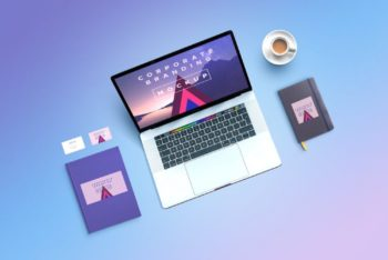 Free Corporate Branding MacBook Mockup