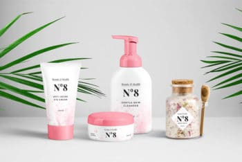 Attractive Cosmetics Packaging PSD Mockup