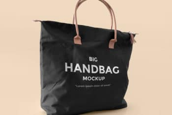 Customizable Big Bag Mockup Freebie in PSD