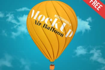 Air Balloon PSD Mockup for Branding Purpose