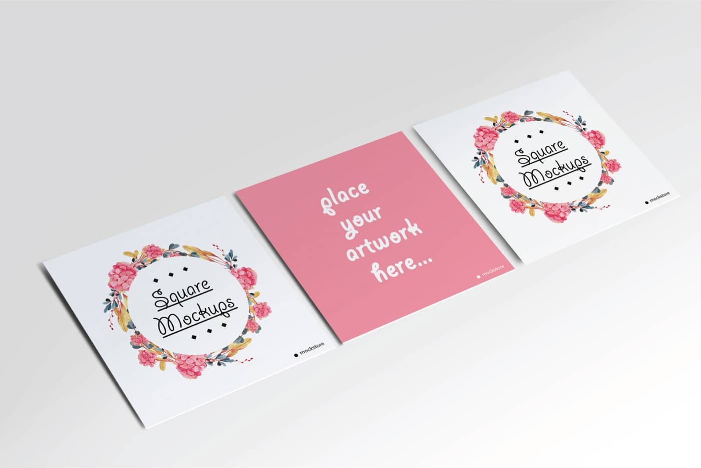 flower square flyer free mockup