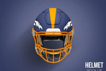 Free High-res Football Helmet Mockup