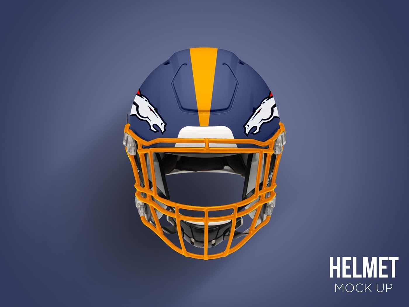 Football Helmet Mockup