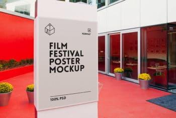 Film Festival Poster Mockup Freebie