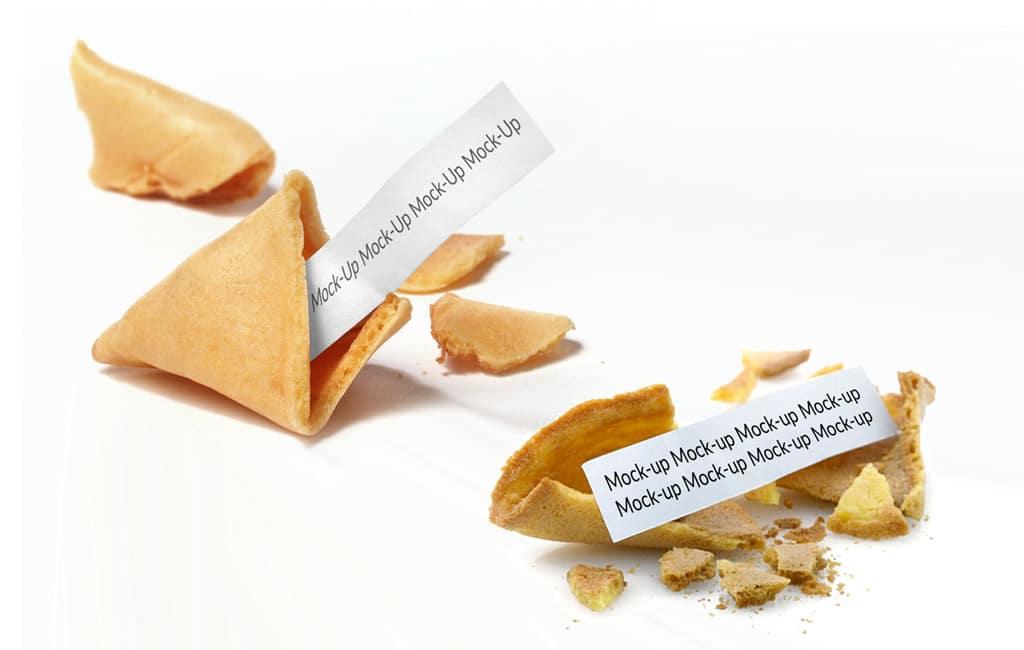 Set of Fortune Cookie Mockups