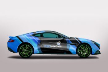 Free Customizable Aston Martin Mockup