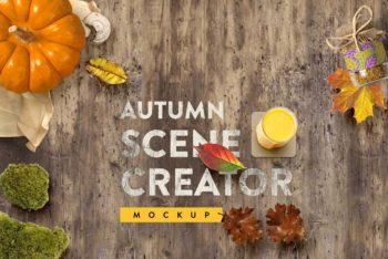 Free Autumn Mockup Scene Generator