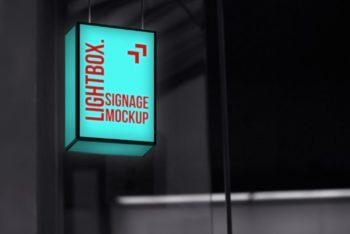 Signage Lightbox Mockup Freebie in PSD