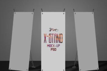 X-Stand Banner Mockup Freebie in PSD
