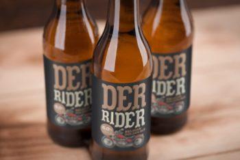 Labeled Beer Bottles Free Mockup