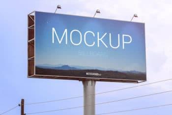 Realistic Free Billboard PSD Mockup
