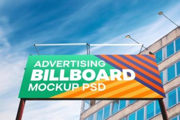 Outdoor Advertising Billboard Free PSD Mockup