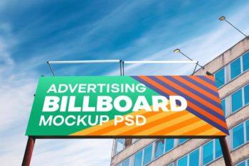 Outdoor Advertising Billboard Free PSD Mockup