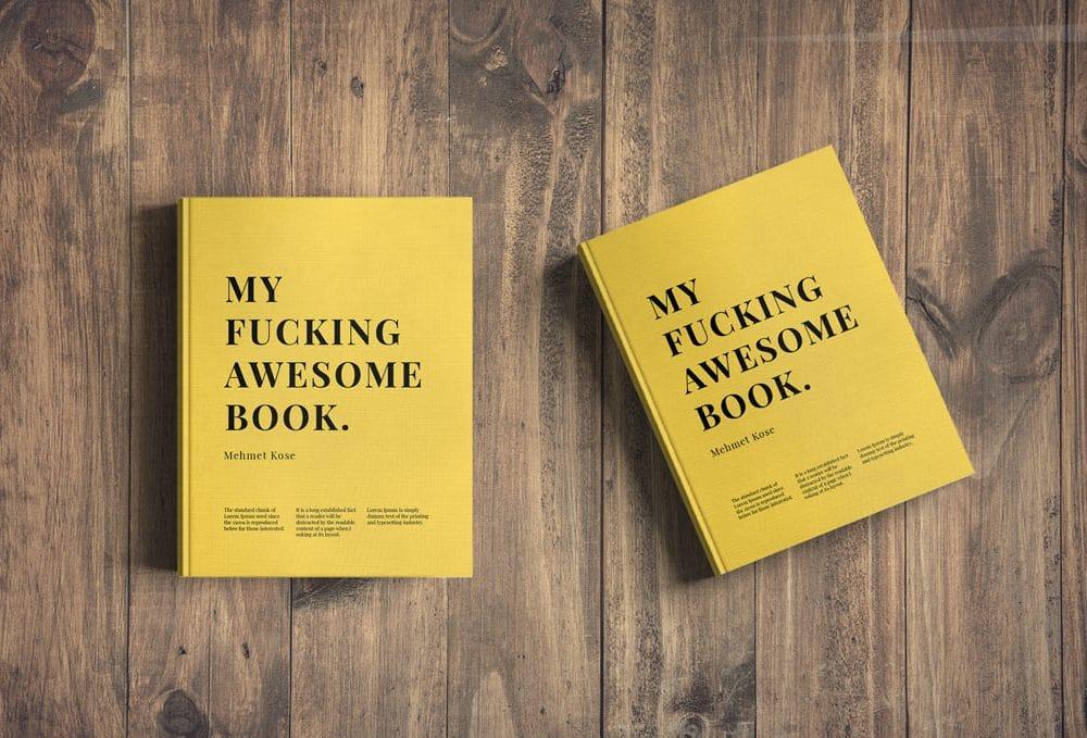 Hard Cover Book Presentation Mockup Designhooks