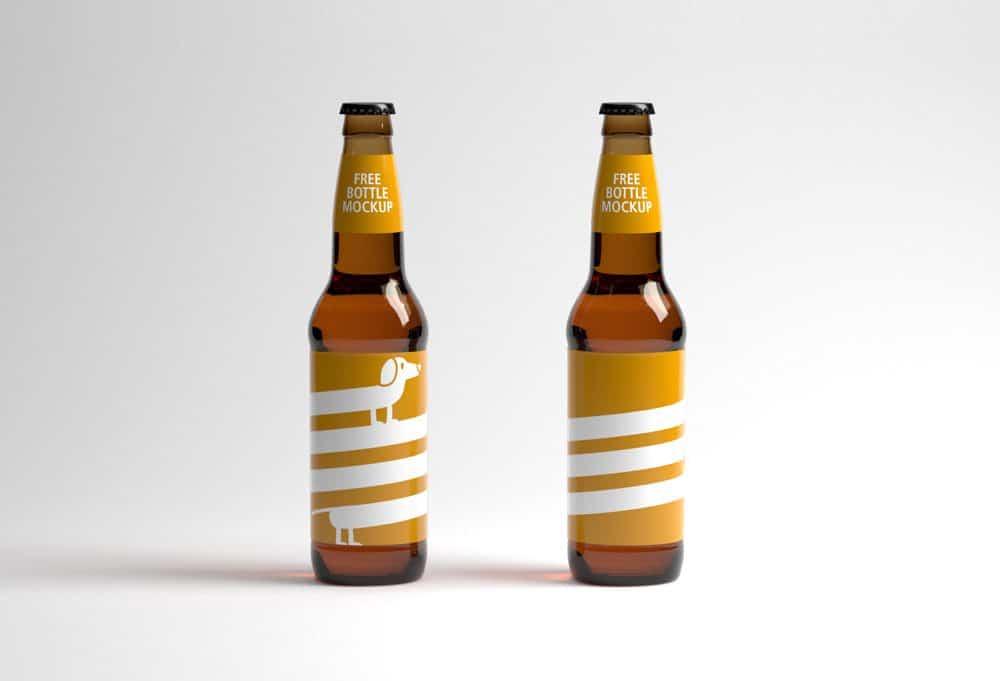 Two Bottles Mockup