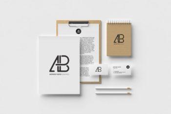 Modern Identity Branding Stationery Mockup