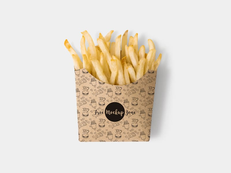 French Fry Box PSD Mockup