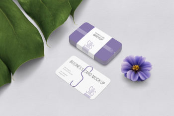 Free Business Card Mockup For Enticing Business Card Presentation