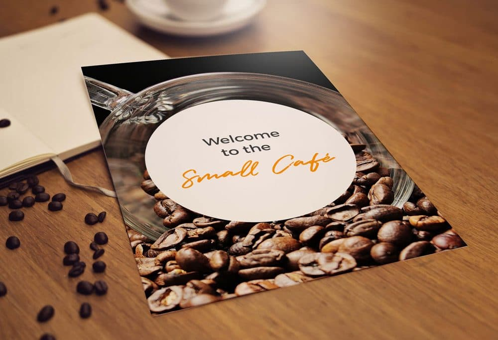 New Morning Menu Coffee Flyer Template | MyCreativeShop |New Coffee Shop Flyer