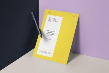 Free Paper Cardboard Mockup