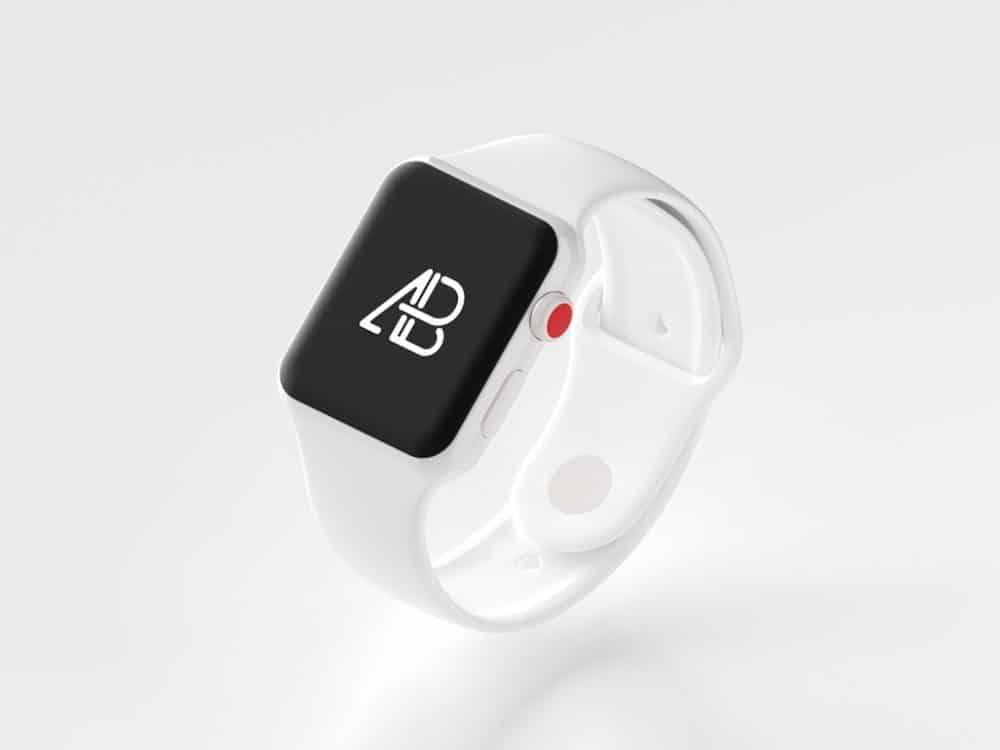 Ceramic Apple Watch Series 3 Free Mockup