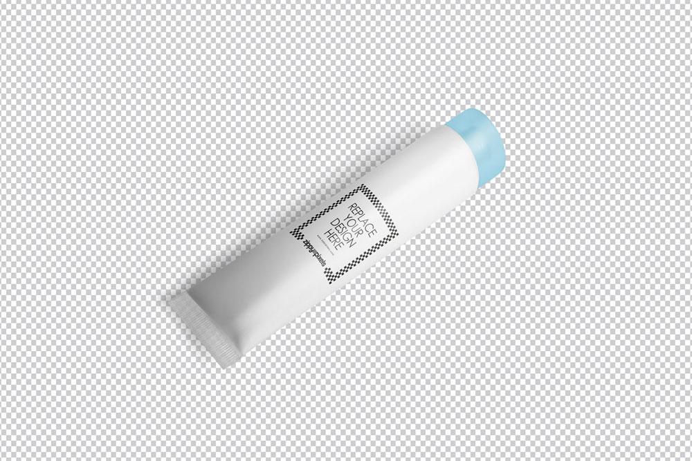 free cream tube mockup
