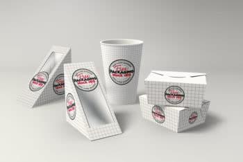 Free Full Deli Branding Mockup Set