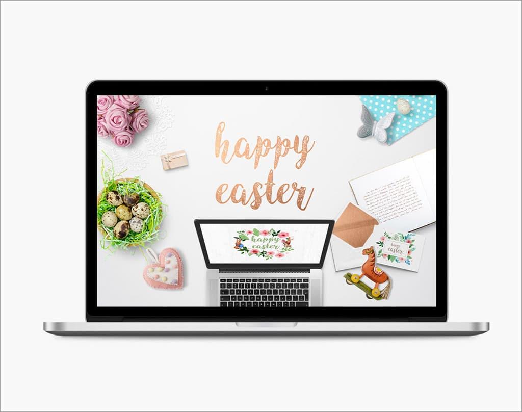 Fun Easter Scene Free Mockup Generator