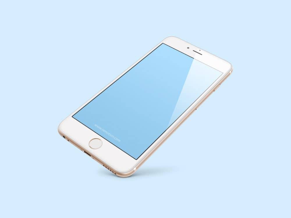 Floating iPhone 8 Free Mockup